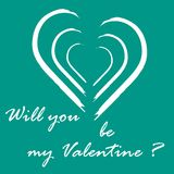 Cute vector illustration with heart and inscription. Design for banner, flyer, poster or print. Greeting card Valentine\'s Day Royalty Free Stock Image