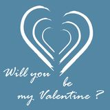 Cute vector illustration with heart and inscription. Design for banner, flyer, poster or print. Greeting card Valentine\'s Day Royalty Free Stock Photography