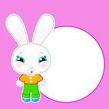 Cute vector kawaii bunny Stock Images