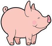Cute vector little pig Stock Image