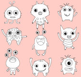 Cute vector monsters or aliens clip art Stock Photography