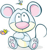 Cute vector mouse sitting isolated Stock Photos