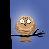 Cute Vector Night Owl Stock Photography