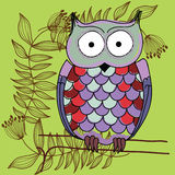 Cute Vector Owl Royalty Free Stock Image