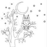 Cute vector owl. Royalty Free Stock Photos