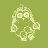 Cute vector owl. Look like doodles. Hand drawn owl Stock Image