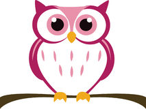 Cute Vector Owl Stock Images