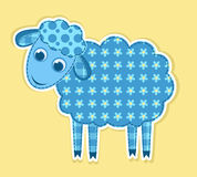 Cute vector patchwork sheep Stock Photos