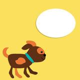 Cute Vector Puppy in Cartoon Style Royalty Free Stock Photo