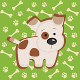 Cute vector puppy illustration Stock Photo