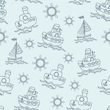 Cute vector seamless baby background. Cartoon children pattern. Stock Photo