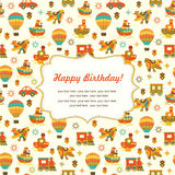 Cute vector seamless baby background with place for text Stock Images