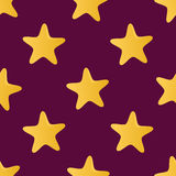 Cute vector seamless pattern (tiling) made of stars Royalty Free Stock Photo