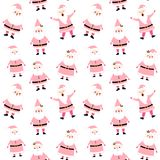 Cute vector seamless winter pattern Stock Images