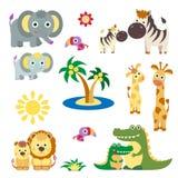 Cute Vector Set of Animals Stock Photos