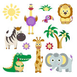 Cute Vector Set of Animals Royalty Free Stock Image