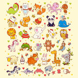 Cute vector set of animals. Stock Photography