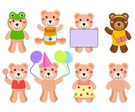 A cute Vector set : Bears Royalty Free Stock Photography