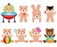 A cute Vector set : Bears Stock Photos