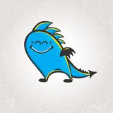 Cute vector smiling dragon Royalty Free Stock Photos