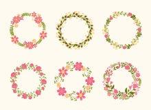 Cute vector wreath frames for wedding invitations Stock Photo