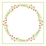 Cute Vector Wreath - Illustration. Design of Wreath with Flowers for greeting card, digital card, clip-art stock illustration
