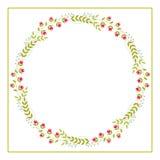 Cute Vector Wreath - Illustration Royalty Free Stock Photo