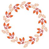 Cute Vector Wreath - Illustration. Design of Wreath with Flowers for greeting card, digital card, clip-art Stock Images