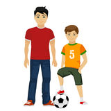 Cute vector young guys boys. Kids. In white background Stock Photos