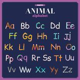 Cute vector zoo alphabet with cartoon and funny Stock Photography