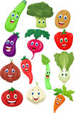 Cute vegetable cartoon character Royalty Free Stock Images