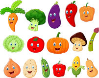 Cute vegetable cartoon character Royalty Free Stock Image