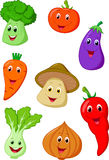 Cute vegetable cartoon Stock Photography