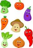 Cute vegetable cartoon Stock Photography