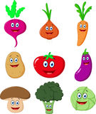 Cute Vegetable cartoon Royalty Free Stock Photo