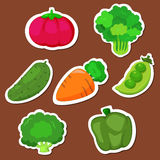 Cute vegetable collection 01 Royalty Free Stock Image