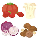 Cute vegetable collection 01 Stock Image
