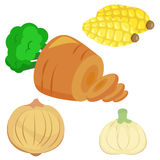 Cute vegetable collection 02 Royalty Free Stock Photo