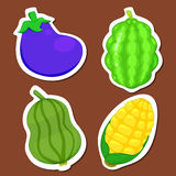 Cute vegetable collection 03 vector illustration