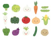 Vegetable set royalty free illustration
