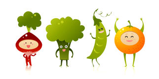 Cute vegetables Stock Image