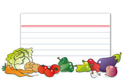 Cute vegetables. Lettuce cabbage  potatoes  carrots  tomatoes, peppers eggplant  garlic, onion Stock Photo
