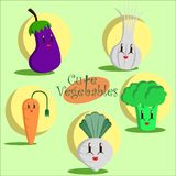 Cute vegetables Stock Images