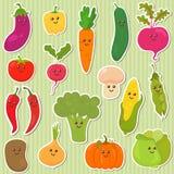 Cute vegetables, healthy food Royalty Free Stock Image
