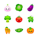 Cute vegetables Royalty Free Stock Photos