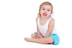 Cute very young female fashion model Stock Images