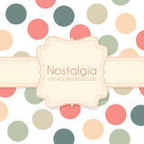 Cute Vintage Background with Frame Royalty Free Stock Images