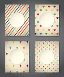 Cute vintage backgrounds Stock Images