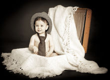 Cute vintage boy Royalty Free Stock Images