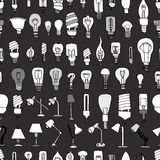 Cute Vintage Bulb Doodle Royalty Free Stock Image